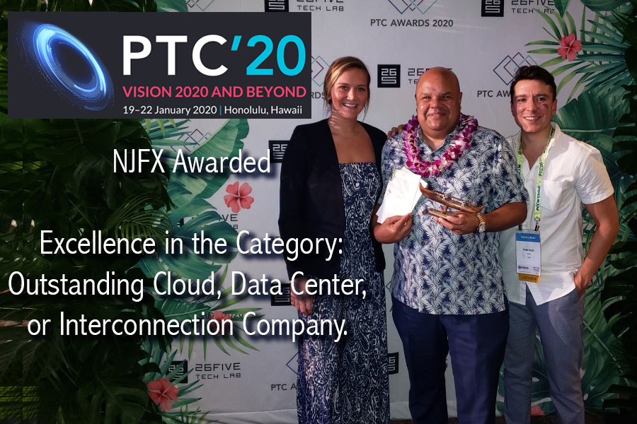 NJFX Wins Prestigious Data Center Interconnection Award at PTC 2020